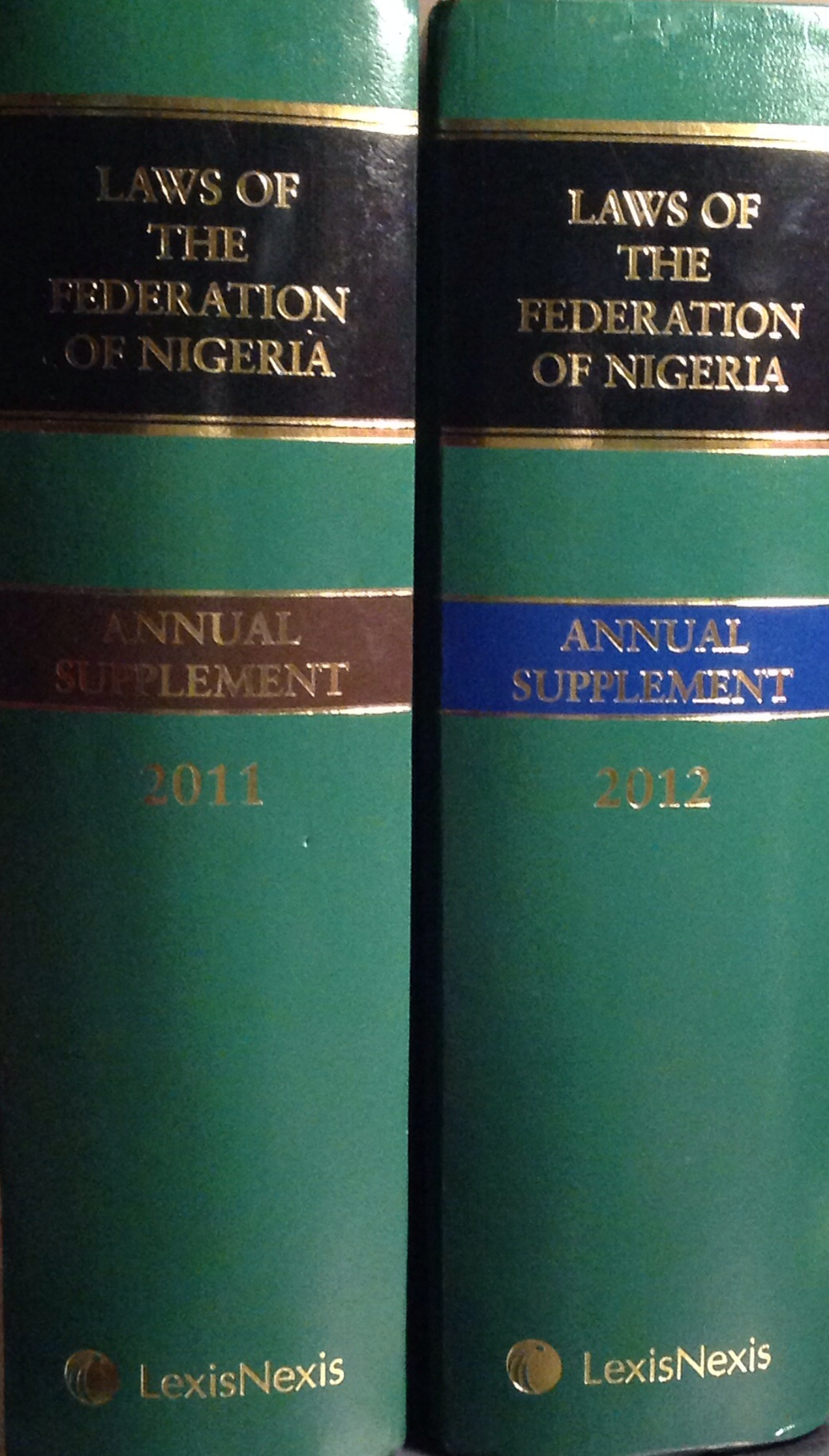 The Latest Laws Of The Federation Of Nigeria ( 2 volume Supplements)