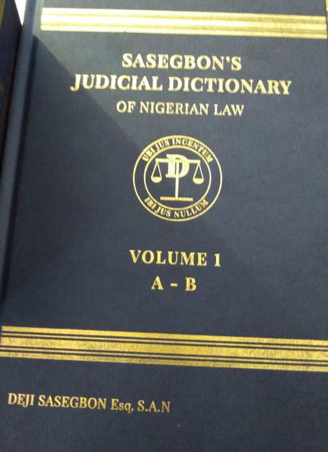 Sasegbon's Judicial Dictionary of Nigerian law
